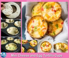 Foood Style: Mini Cheese and Egg Tortilla Cups idea !