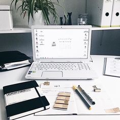 emma's studyblr laptop study space with january desktop wallpaper to download
