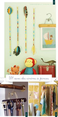 DIY round-up avec des cintres / with hangers