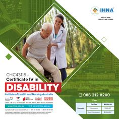 Develop the skills for a rewarding career supporting and empowering people with disabilities! Do you have what it takes to care for people? Then Certificate IV in Disability is the way to go! For course details, Contact 0862128200. #IHNA #DisabilitySupportWorker #ResidentialCareOfficer #CertificateCourse #Australia Nursing Australia, Nursing Courses, Certificate Courses, Acute Care, Saint George, Learning Resources, Disability, Textbook, Career
