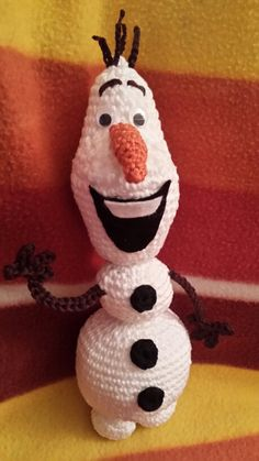 Olaf Olaf, Snowman, Christmas Ornaments, Disney Characters, Holiday Decor, Home Decor, Art, Tejidos, Amigurumi