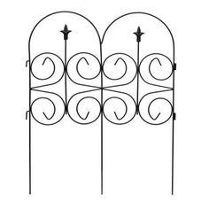 Magnolia Steel Garden Fence, Black Model # 060323 Store SKU