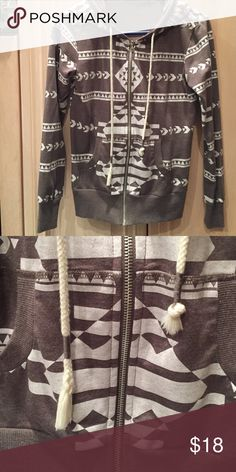 SALE: Chance or Fate Sweater Great condition Chance or Fate from Marshall's zip-up sweater. I love this sweater but one of the strings frayed (see photo 2 PLEASE). Tops Sweatshirts & Hoodies