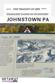 In May 1889, a wall of water 60 ft high traveled 14 miles, reaching the village of Johnstown PA in 45 minutes. The flood killed over 2200 people, and generated international press and an outpouring of donations from around the world. Yet, over 130 years later, the Johnstown Flood is all but forgotten. Visit both the Johnstown Flood National Memorial and Johnstown Flood Museum for a deep dive into what happened that day. The Getaway Mavens tell you how - just click on the link. Us History, American History, Johnstown Flood, Wall Of Water, Lakeside Cottage, Culture Travel, Usa Travel, Historical Sites, Weekend Getaways
