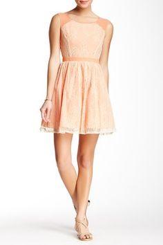 Marineblu Lace Sheer Back Dress