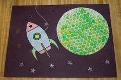 love the planet (bubble wrap.) Redo the rocket