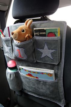 trendy sewing bags for kids cars Sewing For Kids, Baby Sewing, Diy For Kids, Sewing Hacks, Sewing Crafts, Sewing Projects, Car Seat Organizer, Creation Couture, Kids Bags