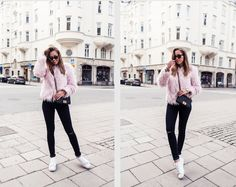 Kenzas.se - The Great blog from the amazing swedish Kenza Zouiten. Great sense of style. A girl to follow! faux fur, bag, jeans, pink, chanel, blogger, fashion