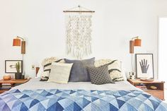 We love the wall hanging in the master bedroom — who makes it? - Inside A Designer's California-Cool Abode - Photos