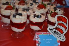 Trifle at a Cat in the Hat Party #catinthehat #partyfood