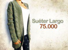 Suéter largo con bolsillos $75.000