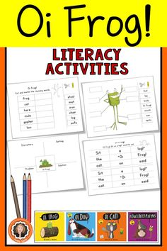 Oi Frog Literacy and Rhyming Activities World Book Day Activities, Frog Activities, Rhyming Activities, Classroom Activities, Learning Activities, World Book Day Outfits, World Book Day Costumes, Class Displays, Book Study