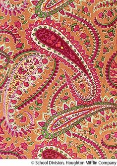 paisley definition: The definition of paisley refers to a pattern of colorful curved comma-shaped designs that is based on a design from India. (adjective) Fabric that has a colorful swirly pattern that is used to make curtains or a skirt is an example. Art Textile, Textile Design, Fabric Design, Pattern Design, Paisley Art, Paisley Design, Paisley Pattern, Mandala Art, Design Mandala