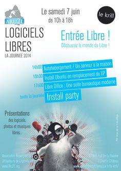 Poster for «Journée du Libre» 2014 Creation: may 2014 - France