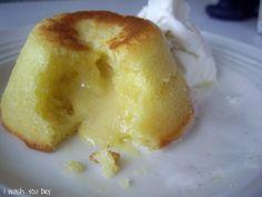White Chocolate Lemon Lava Cake - I Wash You Dry