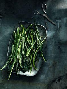 Freshly washed Kale