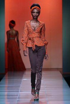 Bongiwe Walaza @ Mercedes Benz Fashion Week Africa 2013 – Day 3 / South Africa   FashionGHANA.com (100% African Fashion)