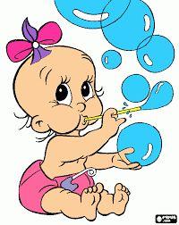 Resultado de imagem para Desenho de bebe menina