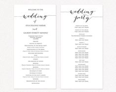Wedding Programs Examples on Wedding Programs Sample Front
