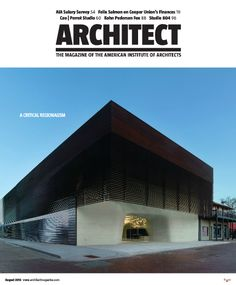 Just received the August 2013 issue of Architect magazine! Can't wait to see what is inside.
