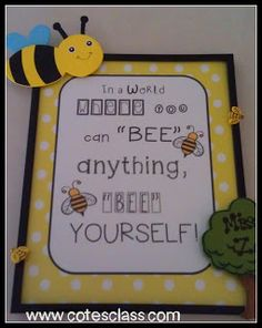 Free Bee Classroom Poster