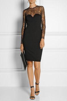 MASON BY MICHELLE MASON Stretch-ponte and lace dress