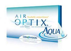 Soczewki kontaktowe AirOptix Aqua 3 szt. - soczewki miesięczne, sferyczne