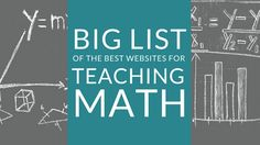 This isn't just any list of the best websites for teaching math. It's the BIGGEST list of the best websites for teaching math. Bookmark it!
