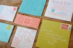 Modern Woodgrain Wedding Invitation by ForTheLoveofPress on Etsy