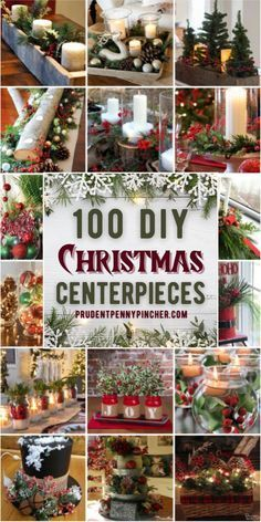 Give your table a festive makeover with these beautiful DIY Christmas centerpieces. From rustic and farmhouse centerpieces, there are Christmas table decorations for every style and budget. These Christmas tablescapes are sure to impress your Christmas party guests and family. Dollar Tree Christmas, Noel Christmas, Rustic Christmas, Simple Christmas, Christmas Ornaments, Christmas Ideas, Christmas Tablescapes, Table Centerpieces For Christmas, Christmas Island