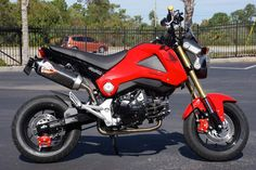 Honda MSX125 Grom Carbon Fiber look Vinyl Lower Gas Tank Decals Precision cut from Premium Outdoor and UV Resistant Carbon Fiber look Vinyl Pair, includes both Left and Right Sides Fits Honda GROM MSX