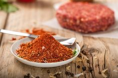 This is a quick and easy burger seasoning recipe. Use it to season your hamburgers or add some to a meatloaf or meatballs. Turkey Burger Seasoning, Hamburger Seasoning Recipe, Meat Seasoning, Turkey Burgers, Simple Burger Seasoning Recipe, Hamburger Recipes, Hamburger Spices, Mini Burgers, Veggie Burgers