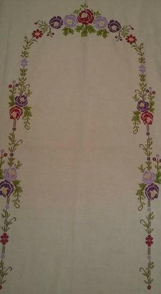 Güller Floral Embroidery, Hand Embroidery, Embroidery Designs, Prayer Rug, Bargello, Cross Stitch Patterns, Diy And Crafts, Sewing, Crochet