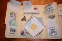 Easter Egg lapbook based on The Legend of the Easter Egg by Lori Walburg