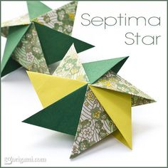 Folded these stars this year as ornaments for an office tree.... They turned out beautiful and were a big hit!
