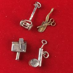 I'm auctioning 'Vintage Lot of Sterling Silver Charms' on #tophatter
