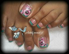 Cute Pedicure Designs, Classy Nail Designs, Toe Nail Designs, Pedicure Nail Art, Toe Nail Art, Toe Nails, Acrylic Nails, Sexy Nail Art, Sexy Nails