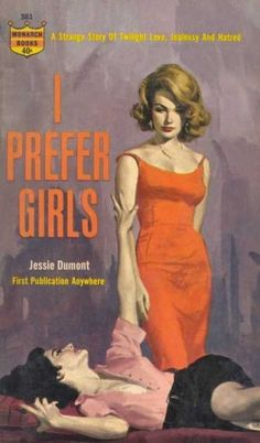 Each and every time a dude hits on you at the bar: | 14 Times Lesbian Pulp Cover Art Perfectly Summed Up Your Life