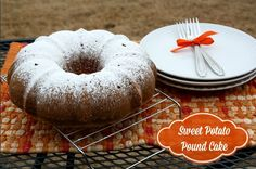 Mommy's Kitchen - Shortcut Sweet Potato Pound Cake using Sugary Sams Sweet Potatoes, available at Walmart