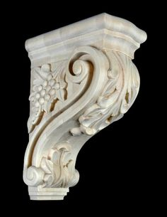 Shelf Brackets Wood Scroll Design Corbel In 5 Sizes With