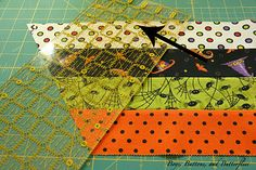 This tutorial shows you how to turn a regular ruler into a 60 degree ruler - Moda Bake Shop: Spiders and Webs Quilt