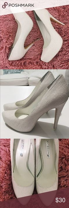 BCBG Generation High heels BCBG Generation High heels-Only worn once, super comfortable and no signs of wear, like brand-new-size is 8M also known as 38 BCBGeneration Shoes Heels