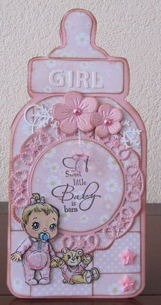 Baby Shower Cards, Baby Boy Shower, Decoracion Baby Shower Niña, Moldes Para Baby Shower, Baby Barn, Baby Clip Art, Baby Girl Cards, Baby Album, Marianne Design