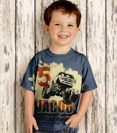 Personalized Monster Truck Shirt Boys by SimplySublimeBaby on Etsy