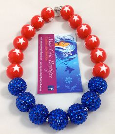 Hey, I found this really awesome Etsy listing at https://www.etsy.com/listing/188326215/girls-red-white-star-and-blue-rhinestone