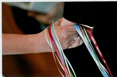 hand fasting  handfasting welsh wedding tradition - each ribbon means something:  blue friendship green wealth red passion yellow putting eachother first pink tenderness