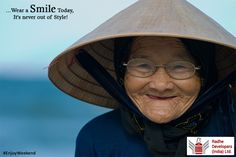 ...Wear a #Smile Today, It's never out of Style! #EnjoyWeekend #RadheDevelopers