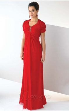Scarlet Column V-Neck and Short Sleeve Zipper Floor Length Mother of Bride Dresses With Beading and Ruffles