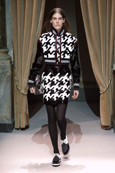 Look 6 from Fay Women's Fall - Winter 2014/15 collection seen on the catwalk.