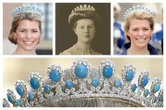 The Victoria Adelheid Button Tiara. In 1905 the Duke of Saxe-Coburg-Gotha, Charles Edward (son of Queen Victoria and Prince Albert's fourth son Leopold) married Victoria Adelheid of Schleswig-Holstein. This tiara originally belonged to her and is part of a parure which includes a brooch, a necklace and earrings. It's unsure if the parure was a wedding gift either from her parents or her new husband. Also the creator is unknown. Victoria Adelheid wore this piece in public at the wedding of…